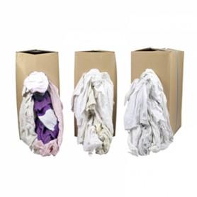 Poetsdoeken wit met gekleurd randje 10 kg