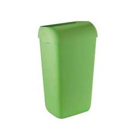 6 x Marplast afvalbak 23 liter Groen compleet met muurbeugel
