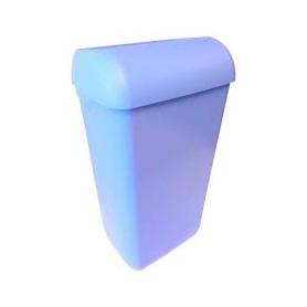 6x Marplast Afvalbak Blauw compleet met muurbeugel