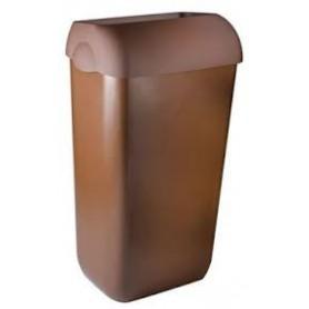 6 X Marplast Afvalbak Bruin compleet met muurbeugel