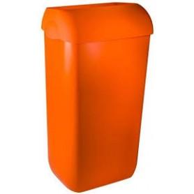 6 X Marplast Afvalbak Oranje compleet met muurbeugel